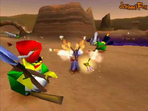 "Spyro the Dragon -07- Peace Keepers Home, Second world starts here. ""Destiny? But I just want to kick some-"" Enemies in this game are funny. Instead of attacking they show me their... behind. Or hide..."