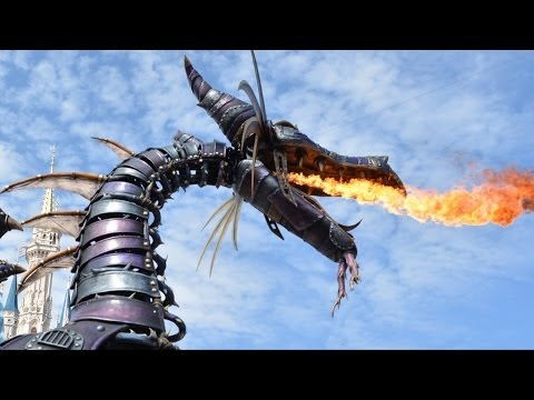 Festival of Fantasy Fire Breathing Maleficent Dragon In Sleeping Beauty Segment, Magic Kingdom