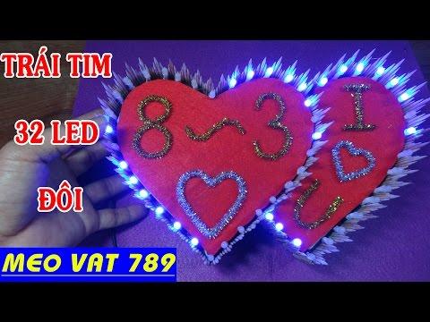 Cách làm trái tim đèn LED sử dụng mạch at89s52