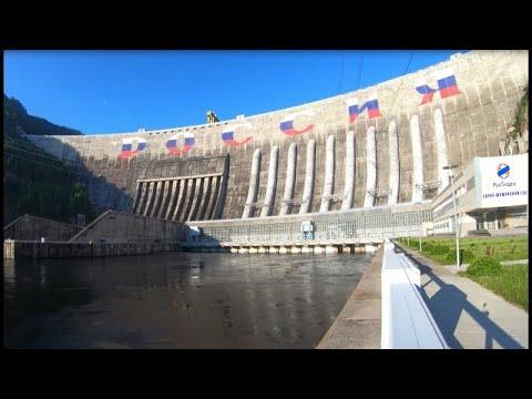 Плотину СШГЭС украсила гигантская надпись