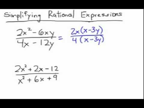 How to find the gcf of rational expressions