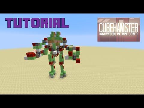 Tutorial: Weaponized Atlas Mech in Minecraft (Re-upload)