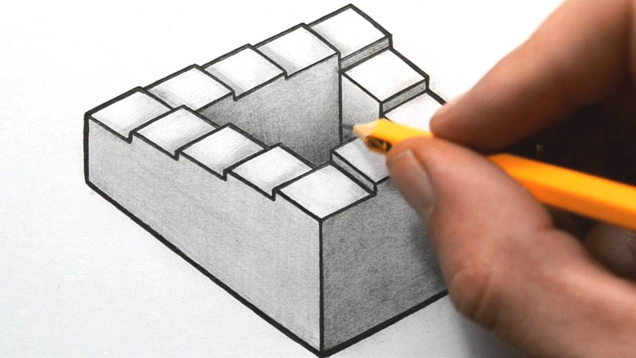 How to draw a penrose staircase youtube