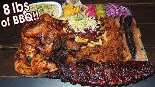 Massive English BBQ Challenge w/ Ribs, Chicken, & Burnt Ends!!