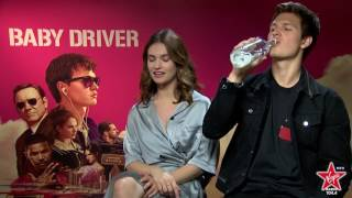 Lily James and Ansel Elgort talk about his kissing skills in Baby Driver