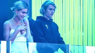 Justin Bieber & Hailey Baldwin at club & at the pool in Miami, Florida - June 11, 2018