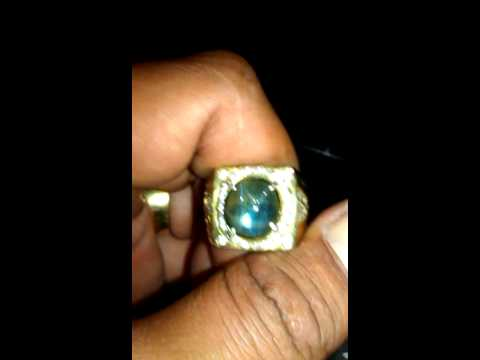 Natural Green safir star 6crt