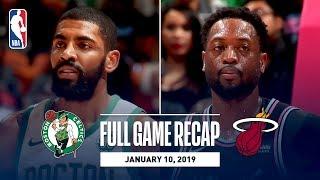 Full Game Recap: Celtics vs Heat | Vintage Wade On Display In Miami