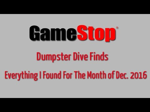GameStop Dumpster Dive Finds For The Month of December 2016 - Free XBOX Live Inside