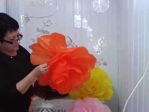 Aula 16 - Flores gigantes em papel de seda