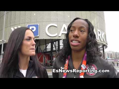 USA Olympian Has Golden Voice Brigetta Barrett and Georganne Moline - invade london