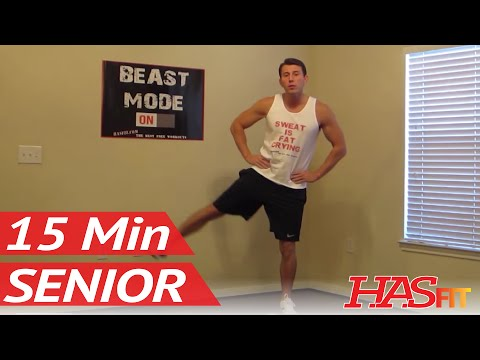 15 Minute Senior Workout - HASfit's Low Impact Workout - Senior Exercises - Exercise for Elderly