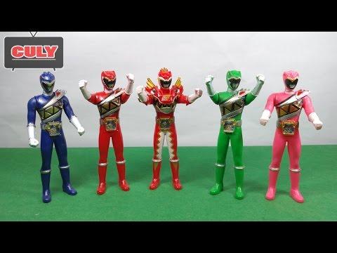 Bộ 5 Anh em siêu nhân chiến đội thú điện khủng long Power ranger Kyoryuger toy for kid đồ chơi