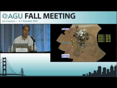 AGU 2012 Fall Meeting: Mars Rover Curiosity's Investigations in Gale Crater Press Conference