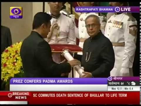 Sri Kamal Haasan Receiving Padma Bhushan Award Video - Thanks Doordarshan
