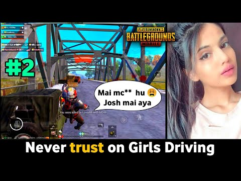 PUBG Mobile : Never trust on Girls Driving | funny moments