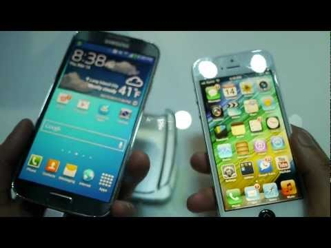 Samsung Galaxy S 4 vs Apple iPhone 5 first look, PhoneArena presents a first look video between the Samsung Galaxy S 4 and Apple iPhone 5. http://www.phonearena.com/news/Samsung-Galaxy-S-4-vs-Apple-iPhone-5...