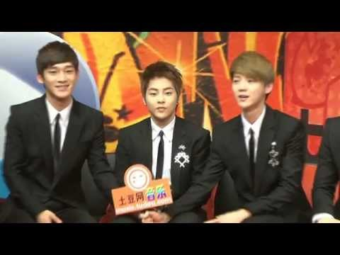 120414 EXO-M Music Tudou Interview, (Cr: 土豆网音乐)