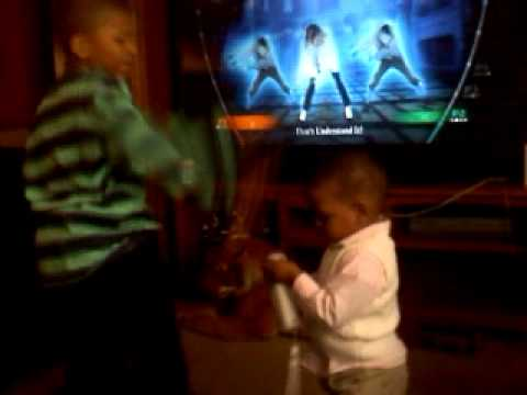 dancing to Michael Jackson beat it on the Wii