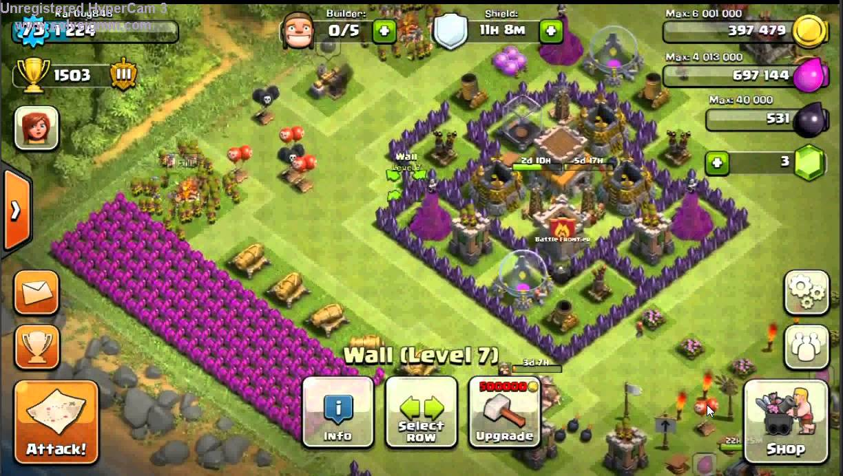 Lvl 8 Town Hall Hybrid Base