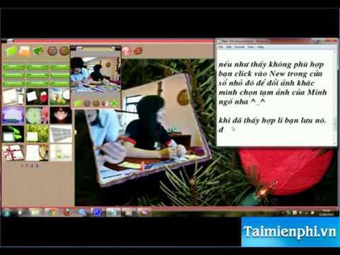 Hướng dẫn ghép ảnh vào khung hình cực kì dễ thương cute với Photoshine - http://taimienphi.vn