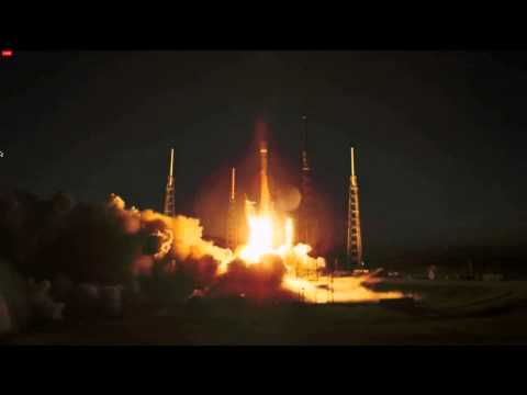Launch of the SpaceX Falcon-9 with SES-8 comsat (on third attempt) Dec. 3
