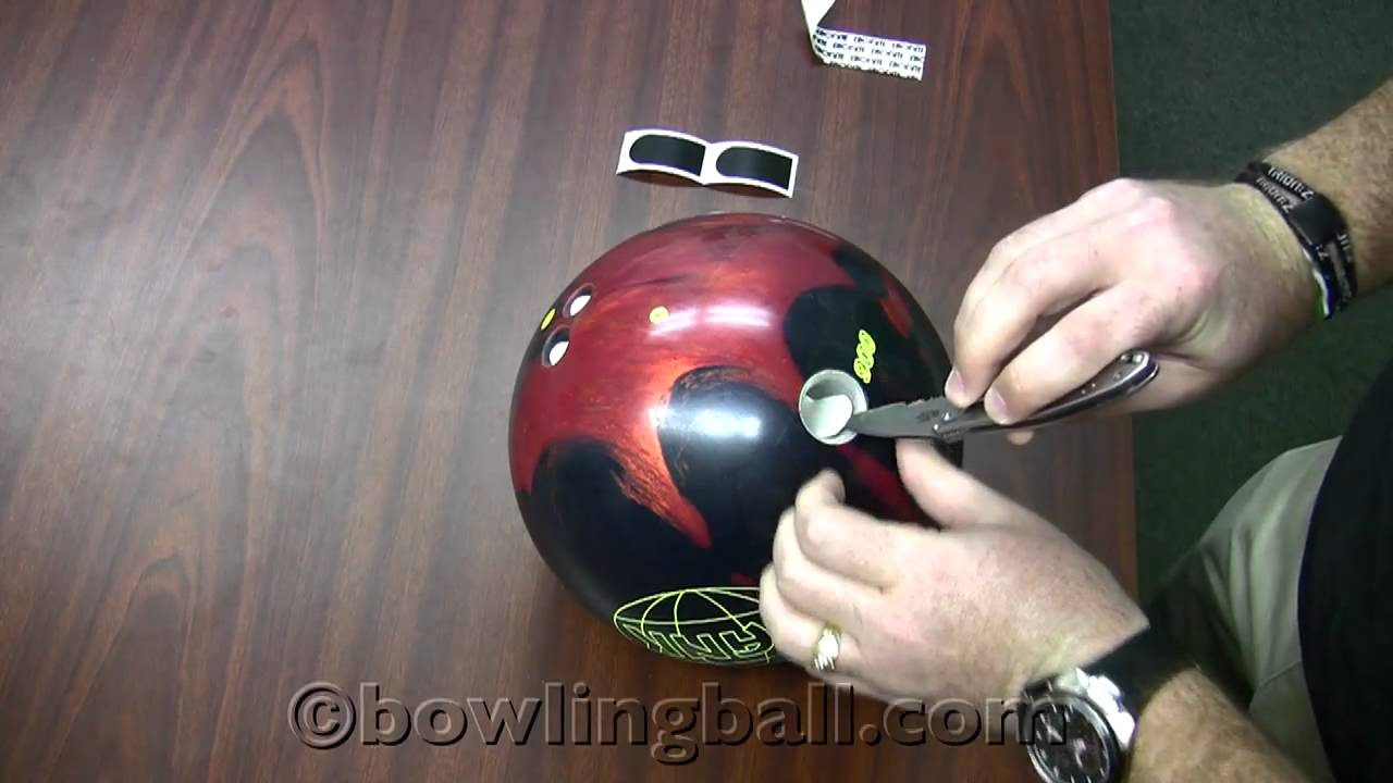 bowling thumb drilling oval
