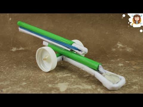 Пушка из бумаги видео