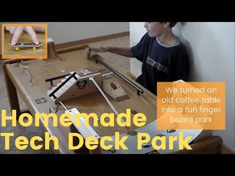 Nicks Homemade Fingerboard Park Youtube