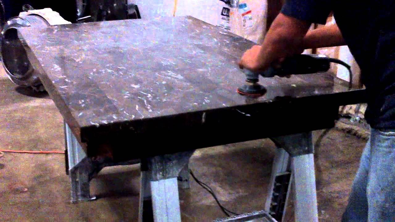 Puliendo mesa de marmol houston youtube for Como quitar manchas del marmol