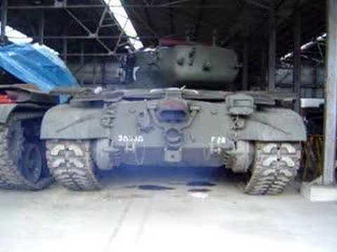 Pershing tank M26 engine starting Ford GAA V8