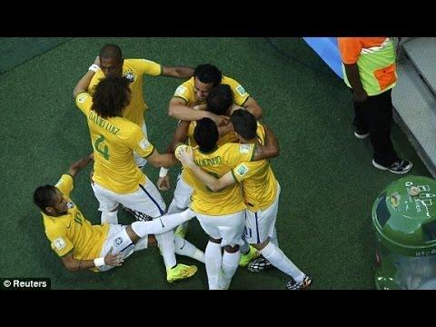 Brazil 2 vs Colombia 1, Quarter Finale, 2014 fifa worldcup final