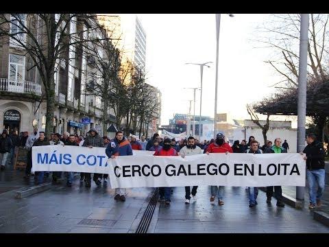 Protesto dos mariñeiros do cerco en Vigo