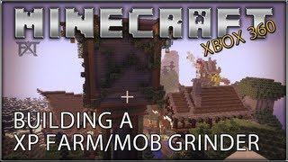 """MINECRAFT"" (Xbox 360) Building a XP Farm Mob/Grinder - (Speed Build)"