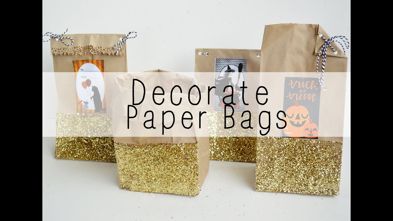 How to decorate paper bags youtube