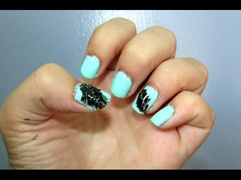 Cats Claws Stormy Night With Lightning Nail Design Tutorial Nail