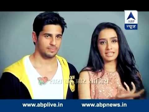 Shraddha Kapoor and Sidharth Malhotra on the sets of  'Kumkum Bhagya'