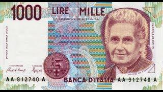 Collezione Delle Banconote In Lire Della Banca D'Italia