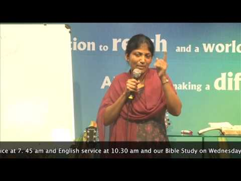 6-11-13 Tamil Bible Study on Sanctification by Pastor Pramila Jeyaraj