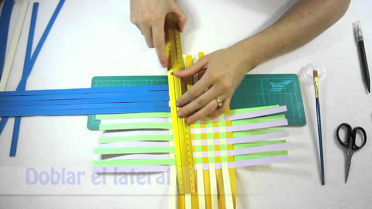 Manualidades paso a paso hacer cesta de papel youtube - Cestas de papel de periodico paso a paso ...