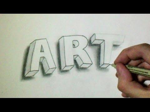 comment dessiner un m en 3d