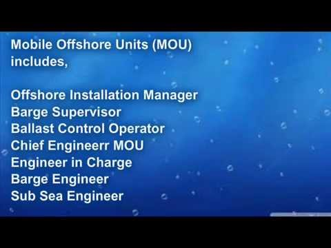Requirements for Panama Seaman Book or CDC, Document checklist for MOU (Mobile Offshore Units)