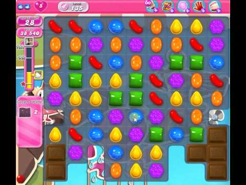 Candy Crush Saga LEVEL 135 old version - YouTube