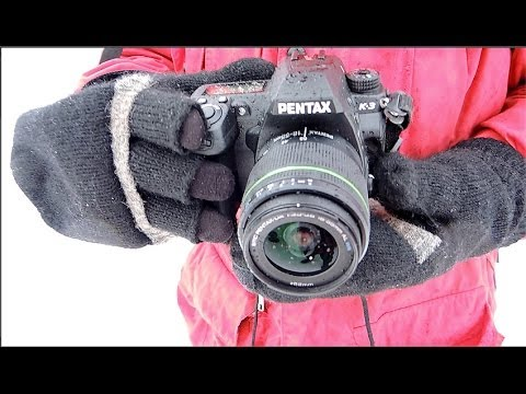Pentax K-3 field test, Nida, Lithuania, ice fishing