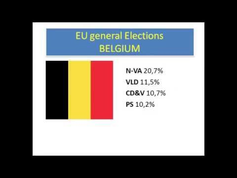 EU General Elections 2014 - First Results: Belgium Bulgaria Germany Greece France Italy Finland UK