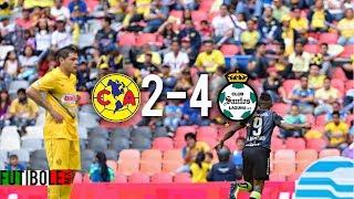 America Vs Santos 2-4 Jornada 10 Liga MX Clausura 2014