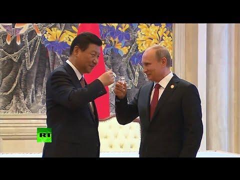 Putin y Xi Jinping brindan por el histórico acuerdo de gas