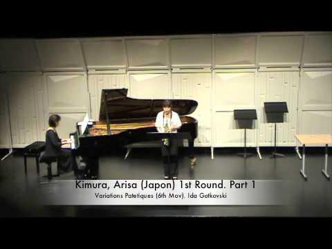 Kimura, Arisa (Japon) 1st Round. Part 1