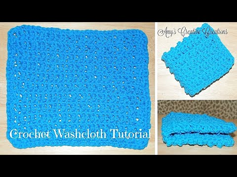 How to Crochet a Washcloth Tutorial