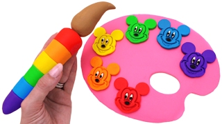 Best Learning Colors Video for Children - Mickey Mouse Clubhouse Play Doh Molds RL